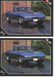 1967 Chevy Corvette 427 Baseball Card Sized Cards Lot Of 2 Must See