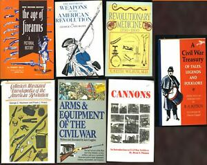 Lot of 7 Vintage Old Gun Collecting Historical Civil War Revolutionary War Books