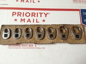 Snap On 7 Pc 3 8 Drive Flare Nut Crowfoot Wrench Set 3 8 Thru 3 4 207sfrh