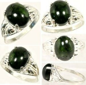 Green Tourmaline Ring 4 Ct Antique 18thc Medieval Shaman Philosopher Alchemy Gem