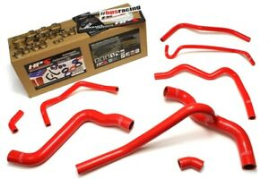 Hps Red Silicone Radiator And Heater Hose Kit For 05 10 Mustang V6 57 1400 Red
