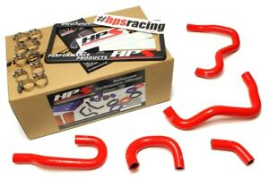 Hps Red Silicone Heater Hose Kit For Honda 00 05 S200057 1414 Red