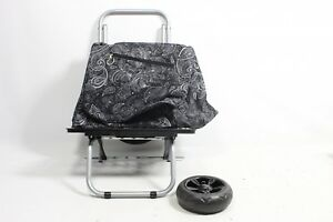 Bigger Trolley Dolly Paisley Shopping Grocery Foldable Cart
