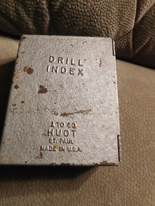 Huot Drill Index 59 Piece Set In Metal Case Made In Usa Vintage