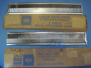 1963 Ford Fairlane Pair Of Lower Back Panel Finish Moldings New Old Stock