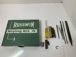 Russwin Keying Kit A Set Locksmith Lock Locks Tools Parts Vintage Metal Case