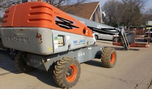 2007 Skyjack Sj45t 4x4 Aerial Man lift Straight Boom Lift Boomlift Big Basket
