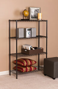 4 Tier 14 x 36 x 54 Steel Wire Shelf Storage Rack black Finish
