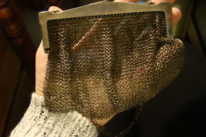Antique Sterling Silver Mesh Purse
