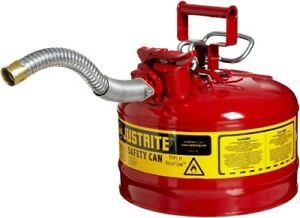 2 5 Gal Gas Can Tank Metal Steel Round Large Gl Gallon 2 1 2 Sturdy Durable Best