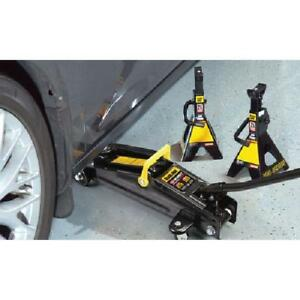 Torin Floor Trolley Jack And 2 Jack Stands Bundle 2 5 Ton Capacity Professional