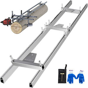 Chainsaw rail Mill Guide System 5ft 1 5m 2 Reinforce Grove Professional Gloves