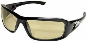 Edge Brazeau Safety Glasses With Black Frame And Polarized Yellow Lens