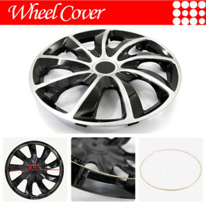 For Honda 14 Inch Hub Cap Wheel Rim Cover 9 Spoke Black Chrome 4pcs Set