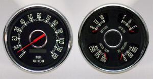 1951 Ford Pickup Gauges Ford Truck New Vintage Gauge Kit Woodward Series Black