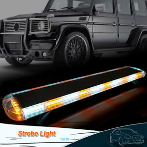 47 88 Led Strobe Light Bar Amber white Emergency Beacon Warn Tow Truck Response