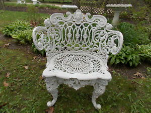 Rare Antique Vtg Wrought Iron Very Decorative Betsy Ross Garden Lawn Chair