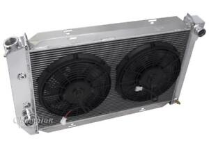 1971 1973 Ford Mustang Radiator Dual 12 Fans Aluminum 2 Row Champion