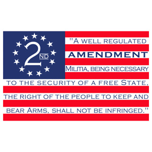 2nd Amendment Usa American Flag Sticker Decal Car Truck Window Gun Bumper