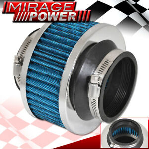 Universal 2 5 Performance Cold Air Intake Bypass Filter Valve Pipe Rubber Blue