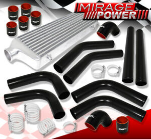 28 x7 x2 75 Front Mount Intercooler Set 2 5 T6061 Aluminum Pipe Piping Kit
