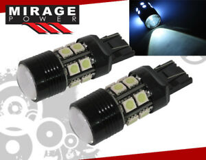 2x T20 White Cree Led Projector 12 Smd Light Bulb Reverse Back Up Stop Brake