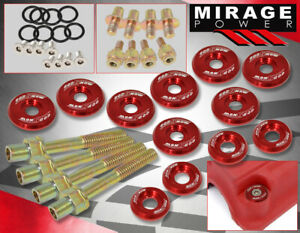 Civic Integra Del Sol B16a B18c Low Profile Thin Valve Cover Washer Bolt Kit Red