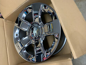 Chevy Silverado Suburban Tahoe Avalanche Chrome 20 Factory Oem Wheels Rims 5651