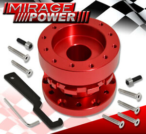 For Hyundai Steering Wheel Hub Adapter Adjustable Extension Dual Lock Safety Red