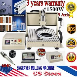 Usb 3 Axis Router 6040 1500w Vfd Engraving Milling Carving Drilling Machine Ups