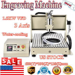3 Axis 6040 Cnc Router Engraver 1500w Vfd Desktop Engraving Cutter Mill Machine
