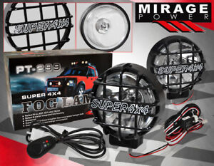 Pair Off Road 4x4 Xenon Flood Lights Fog Lamp With Hid Driving Outdoor For Gmc