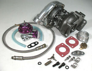 T3 T3 Hybrid Turbo Charger 45 Trim Oil Feed Line Kit Rs Style Blow Off Valve