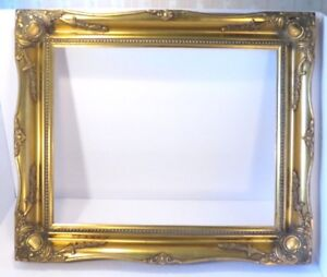 Picture Frame 16 X 20 Vintage Antique Style Baroque Ornate Classy Museum Gold