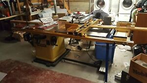 Powermatic Model 66 Table Saw With Router Lift And Incra Fence System Lots Of Ex
