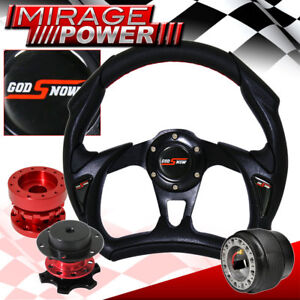 Battle Style Pvc Steering Wheel Red Quick Release Hub Extender For 03 15 Accord