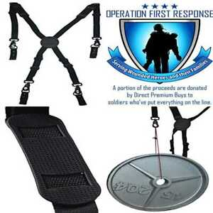 Tactical 365 Operation First Response Nylon Police Duty Belt Suspenders Metal Ha