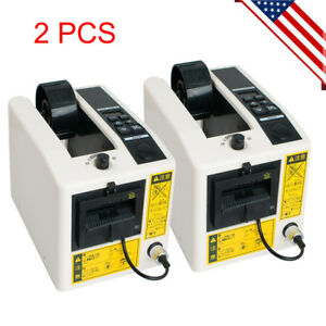 2x Electric Automatic Tape Dispensers Adhesive Tape Cutter Packaging Machine Usa