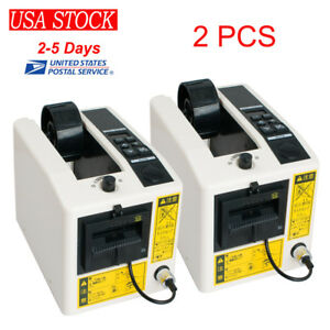 2pcs Automatic Auto Tape Dispensers Electric Adhesive Tape Cutter Cutting 110v