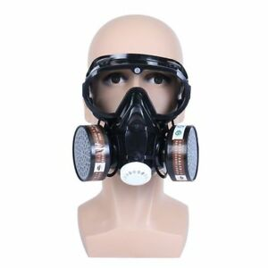 Respirator Gas Mask Safety Chemical Anti dust Filter Eye Workplace Protection