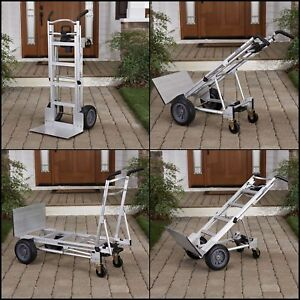 Aluminum Assisted Hand Truck Wheels Dolly Appliance Mover Cart Convertible Fold