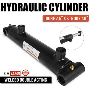 Hydraulic Cylinder 2 5 bore 40 Stroke Double Acting Quality Equipment Steel
