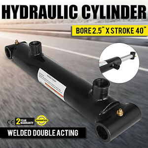 Hydraulic Cylinder 2 5x 40 Stroke Double Acting 3000 Psi Construction Excellent