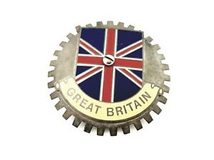 Great Britain Flag Front Grille Emblem Badge Accessory Medallion Car Van Truck