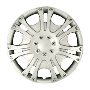 Fit 89 02 Mitsubishi Silver Auto Wheel Covers 4pcs 14 Chrome Replacement