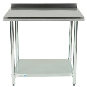 30 X 36 430 Stainless Steel Restaurant Prep Work Table Undershelf Backsplash