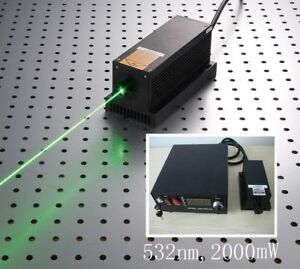 532nm 2w 2000mw Green Laser Dot Module ttl analog 0 30khz Tec Adjustable Power