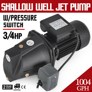 3 4 Hp Shallow Well Jet Pump W Pressure Switch Supply Water Reliable Wells