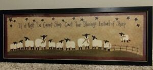 Large Primitive Sheep Picture If At Night Words Farmhouse Sign Over The Bed