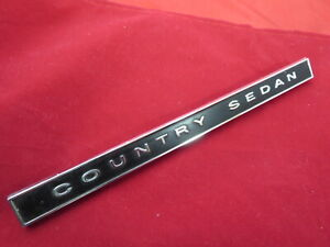 Nos 1965 Ford Country Squire Sedan Station Wagon Dash Emblem Nameplate Script